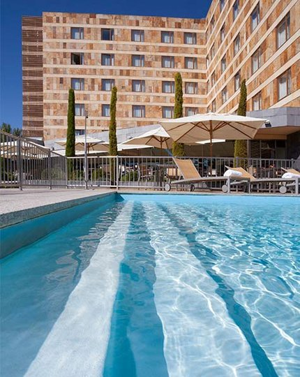 Take a dip in our outdoor pool and have a ...